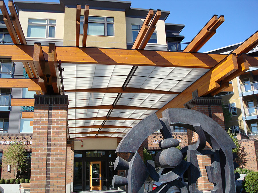 Project: Bristol II Canopy <br /> Architect: Mithun Partners<br /> GC: Bristol II<br /> Location: Renton, WA<br />