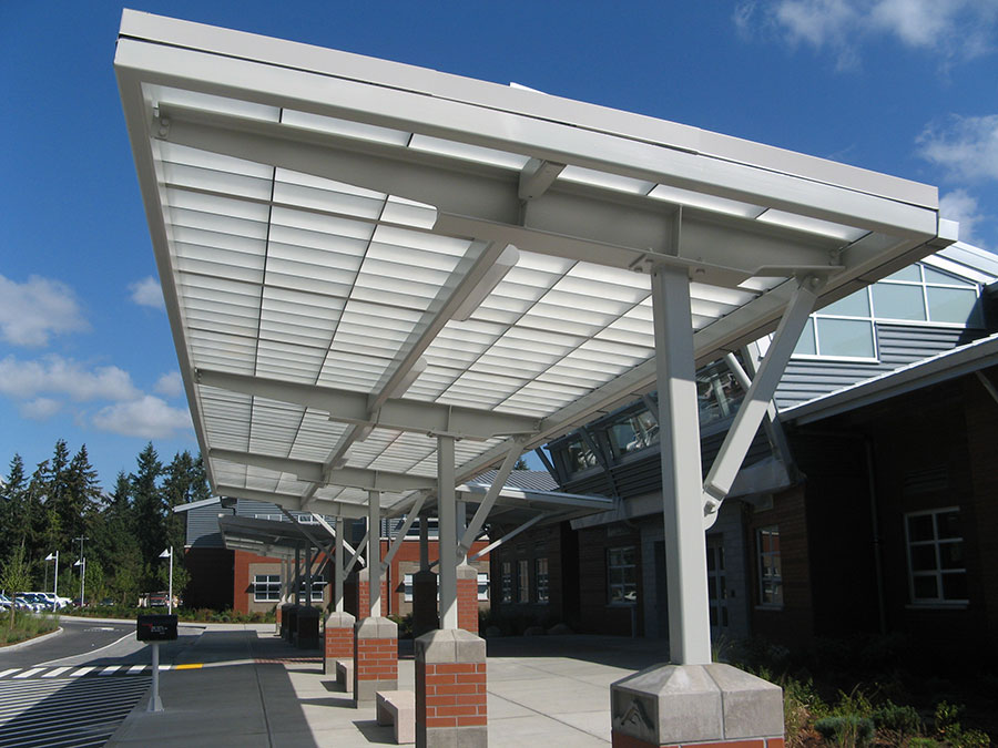 Project: Mt Rainier High School<br /> Architect: Burr Lawrence Rising & Bates<br /> GC: Lydig  Construction<br /> Location: Des Moines, WA<br />