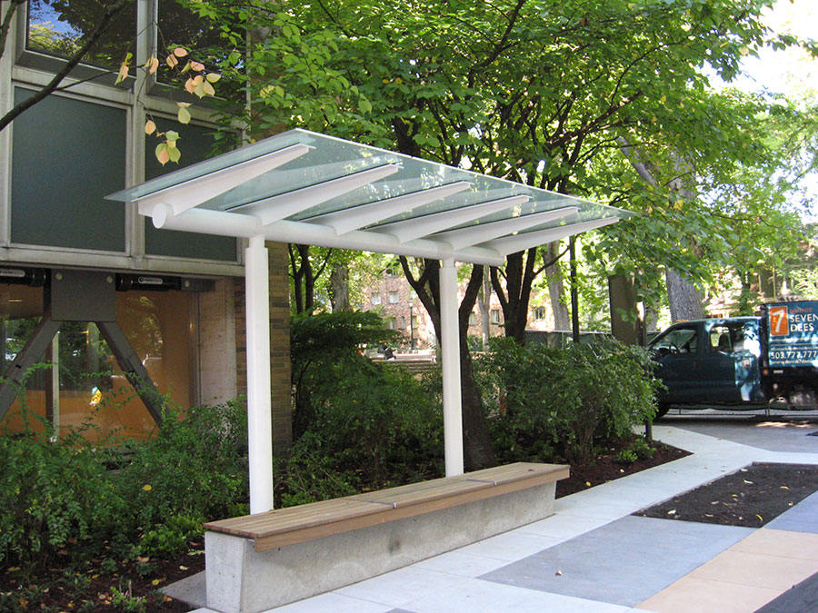 Project: PSU Smoking shelter <br /> Architect: Robertson Meryman Barnes<br /> GC: Skanska USA<br /> Location: Portland, OR<br />