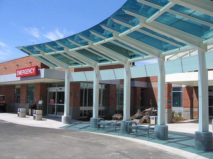Project: Providence Medford Emergency Drop-Off <br /> Architect: JR Jurgens<br /> GC: S&amp;B James Construction<br /> Location: Medford, OR<br />