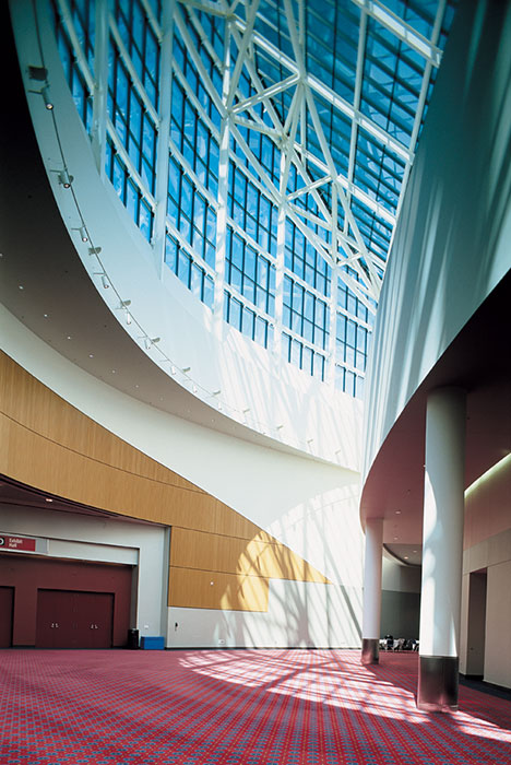 Project: Oregon Convention Center Prefunction<br /> Architect: Zimmer Gunsul Frasca Partnership<br /> GC: Hoffman Construction Company<br /> Location: Portland, OR<br />