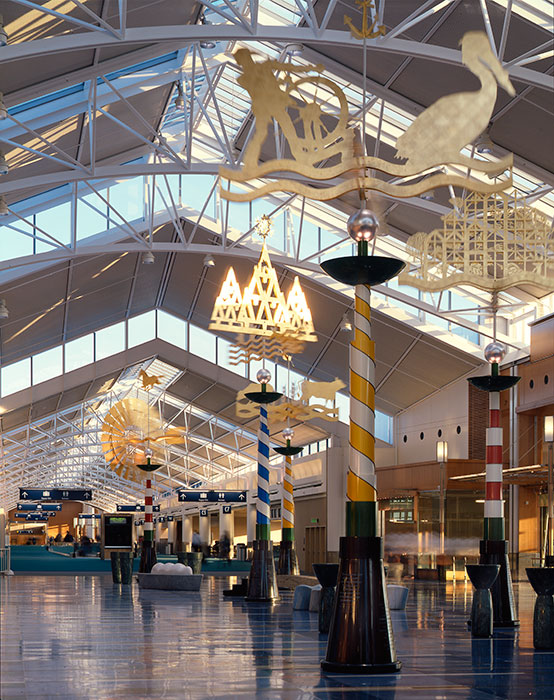 Project: Portland International Airport<br /> Architect: Zimmer Gunsul Frasca Partnership<br /> GC: Hoffman Construction Company<br /> Location: Portland, OR<br />