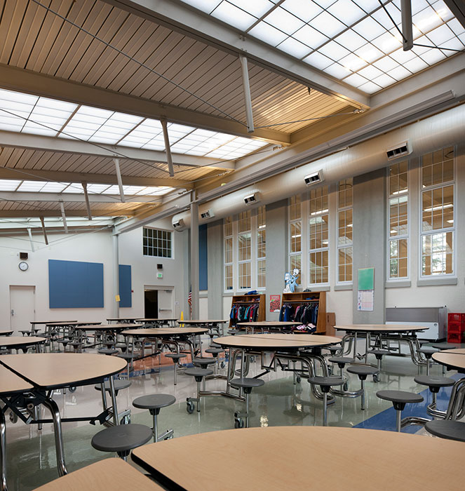 Project: Washington Elementary School Cafeteria<br /> Architect: Opsis Architecture<br /> GC: Vitus Construction<br /> Location: Medford, OR<br />