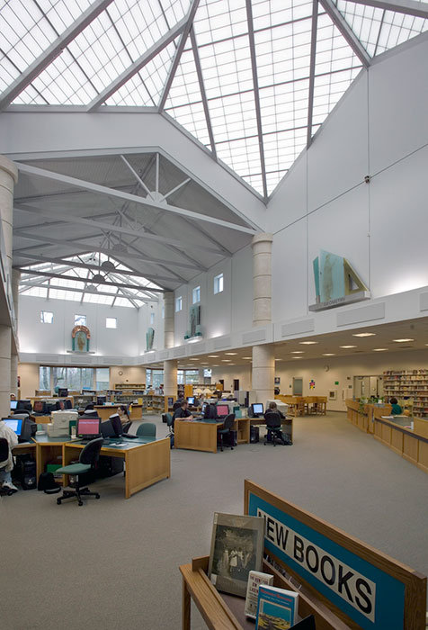 Project: Pierce College Allied Arts - Library<br /> Architect: Opsis Architecture<br /> GC: Sierra Construction<br /> Location: Tacoma, WA<br />