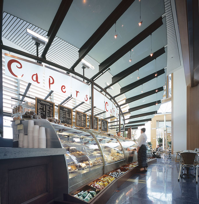 Project: Capers Café at Portland International Airport<br /> Architect: Lee Winn Architects<br /> GC: Pacific Crest Construction<br /> Location: Portland, OR<br />