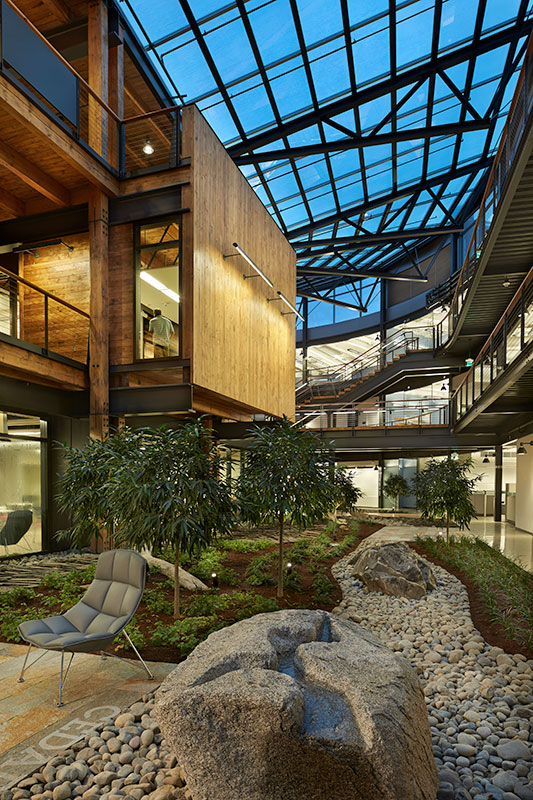 Project: Federal Center South<br /> Architect: Zimmer Gunsul Frasca Partnership<br /> GC: Sellen Construction<br /> Location: Seattle, WA<br /> Image Source: Benjamin Benschneider