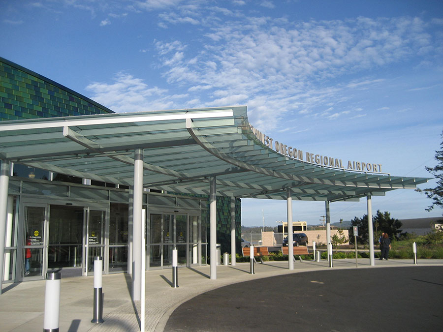 Project: SW Oregon Regional Airport Terminal<br /> Architect: Zimmer Gunsul Frasca Partnership<br /> GC: Skanska USA<br /> Location: North Bend, OR<br />